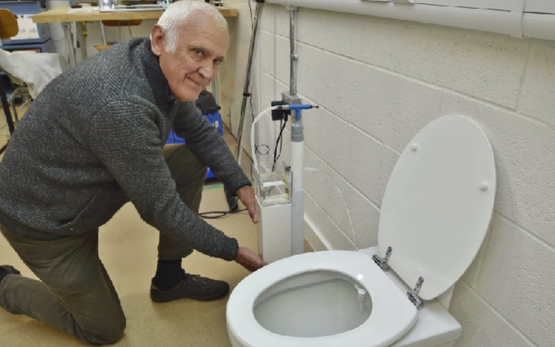 Dragon's praise for Peterborough inventor's creation that could end bathroom misery for many